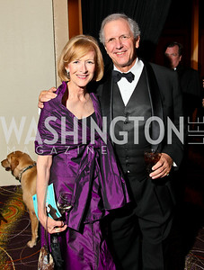 Photo by Tony Powell. The Washington Humane Society Bark Ball. Hilton Hotel. June 5, 2010. Judy Woodruff, Charlie Gibson