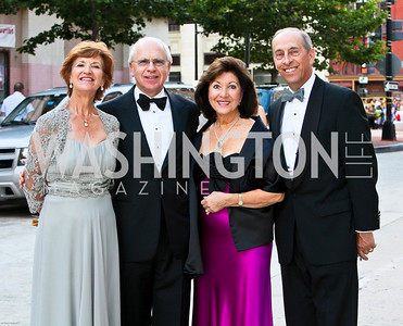 Photo by Tony Powell. Ford's Theatre Gala. June 6, 2010. Pam and Dick Olver, Robin and Bob Fitch