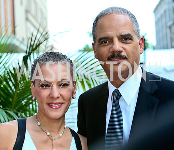 Photo by Tony Powell. Ford's Theatre Gala. June 6, 2010. Sharon Malone and Attoney General Eric Holder