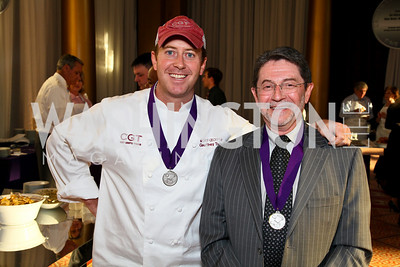 Chef Geoff Tracy, Paul Zucconi. Photo by Tony Powell. March of Dimes Gourmet Gala. Building Museum. April 14, 2010