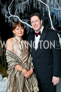 Photo by Tony Powell. The 2010 Opera Ball. Russian Federation. May 21, 2010. Lady Julia Sheinwald and English Ambassador Sir Nigel Sheinwald