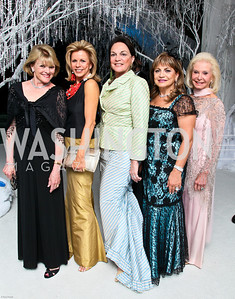 Photo by Tony Powell. The 2010 Opera Ball. Russian Federation. May 21, 2010. Ineke Kreeger, Susan Bennett, Grace Bender, Annie Totah, Diane Kay