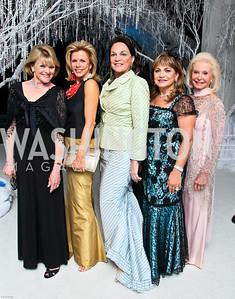 Photo by Tony Powell. The 2010 Opera Ball. Russian Federation. May 21, 2010. Ineke Kreeger, Susan Bennett, Grace Bender, Annie Totah, Diane Kay