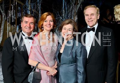 Photo by Tony Powell. The 2010 Opera Ball. Russian Federation. May 21, 2010. Congressman Ed and Marie Royce, Elizabeth and Jan Lodal