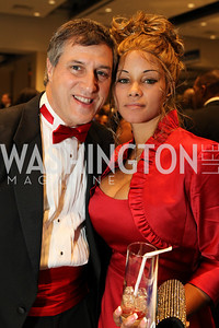 Andrew Gomez, Donna Briggs. Photo by Alfredo Flores. 30th Annual Kidney Ball benefitting the National Kidney Foundation at Washington Hilton.