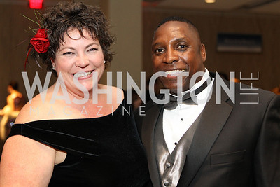 Amelia Robinet, Randy Stephens. Photo by Alfredo Flores. 30th Annual Kidney Ball benefitting the National Kidney Foundation at Washington Hilton.