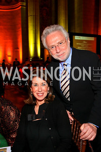 Lynn and Wolf Blitzer. Photo by Tony Powell. Refugees International 31st Anniversary Dinner. Mellon Auditorium. May 6, 2010