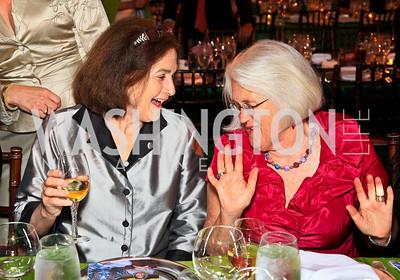 Elsie Walker, Joan Rosenbaum. Photo by Tony Powell. Refugees International 31st Anniversary Dinner. Mellon Auditorium. May 6, 2010