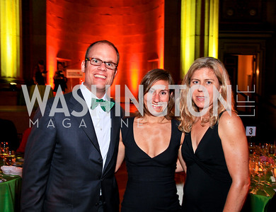 Lex Sant, Sarah and Katie Bacon. Photo by Tony Powell. Refugees International 31st Anniversary Dinner. Mellon Auditorium. May 6, 2010