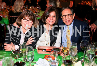 Margaret Carlson, Rhoda Glickman, Dr. Ronald Dozoretz. Photo by Tony Powell. Refugees International 31st Anniversary Dinner. Mellon Auditorium. May 6, 2010