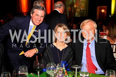 Bob Monahan, Kathleen and Chris Matthews. Photo by Tony Powell. Refugees International 31st Anniversary Dinner. Mellon Auditorium. May 6, 2010