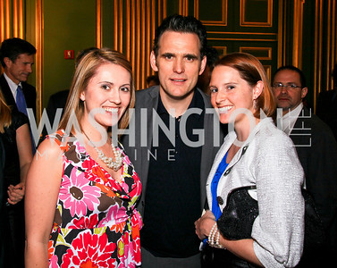 Amie Steele, Matt Dillon, Kelly Fisher. Photo by Tony Powell. Refugees International 31st Anniversary Dinner. Mellon Auditorium. May 6, 2010