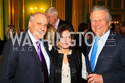 Dan and Rhoda Glickman, Robin West. Photo by Tony Powell. Refugees International 31st Anniversary Dinner. Mellon Auditorium. May 6, 2010