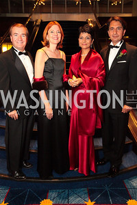 Congressman Ed Royce (D-CA), Marie Royce, Ambassador Said Jawad of Afghanistan, Shamin Jawad . The 32nd Annual Ambassadors Ball. Photos by Alfredo Flores.