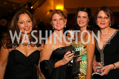 Rainy Chandler, Audrey Blank, Vickie Brown, April McEachern. The 32nd Annual Ambassadors Ball. Photos by Alfredo Flores