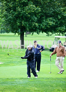 Photo by Tony Powell. Hole in One for Cornerstone Kids Golf Tournament. Kenwood. May 17, 2010. Jack Quinn, Bret Baier, Tripp Donnelly