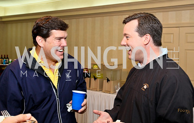 Photo by Tony Powell. Hole in One for Cornerstone Kids Golf Tournament. Kenwood. May 17, 2010. Bret Baier, Ed Henry