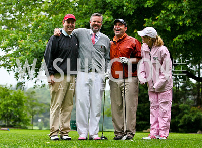 Photo by Tony Powell. Hole in One for Cornerstone Kids Golf Tournament. Kenwood. May 17, 2010. Ed Henry, Kevin McDonnell, Manuel Ortiz, Susanna Quinn