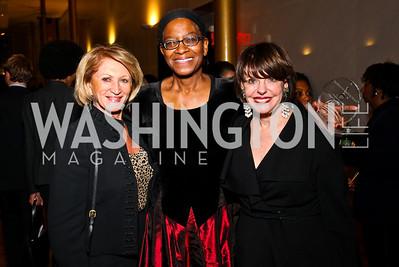 Photo by Tony Powell. Maggie Shannon, Angela Benjamin, Marlene Malek. A Standing Ovation for Teachers. Kennedy Center. November 1, 2010