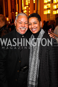 Photo by Tony Powell. Bill Harris and Tia Powell-Harris. A Standing Ovation for Teachers. Kennedy Center. November 1, 2010