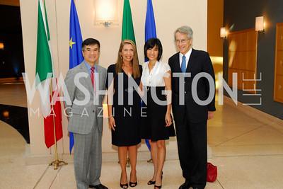 Kyle Samperton, AILA Foundation Awards at the Italian Embassy, June 17, 2010, Gary Locke, Antonella Cinque, Mona Locke, Giulio Terzi di Sant'Agata,