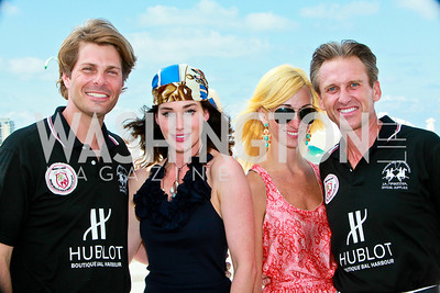 Chet and Diane Lott, Jaclyn Gower, Mark Goode. Photo by Tony Powell. AMG Miami Beach Polo World Cup VI. South Beach. April 24 & 25, 2010