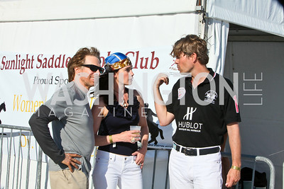 Jerry Bruckheimer, Diane and Chet Lott. Photo by Tony Powell. AMG Miami Beach Polo World Cup VI. South Beach. April 24 & 25, 2010