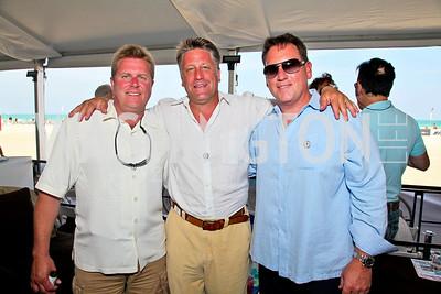 Brent Taylor, Craig Pirtle, Doug Bayer. Photo by Tony Powell. AMG Miami Beach Polo World Cup VI. South Beach. April 24 & 25, 2010