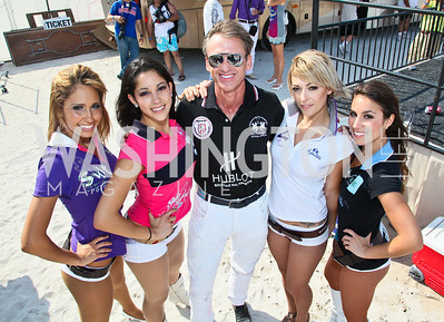 Mark Goode, La Martina models. Photo by Tony Powell. AMG Miami Beach Polo World Cup VI. South Beach. April 24 & 25, 2010