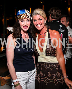 Diane Lott, Melissa Hornung. Photo by Tony Powell. AMG Miami Beach Polo World Cup VI. South Beach. April 24 & 25, 2010