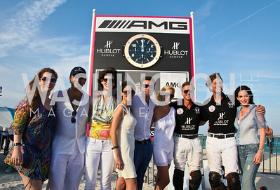 Elly Senger-Weiss, Pierre Olivier Bensahel, Jaclyn Gower, Mark Goode, Chet and Diane Lott. Photo by Tony Powell. AMG Miami Beach Polo World Cup VI. South Beach. April 24 & 25, 2010