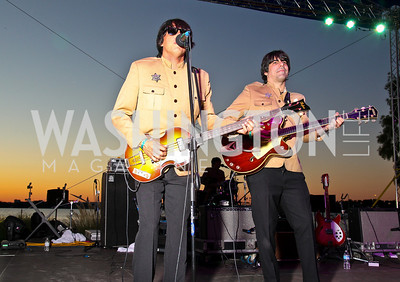 Photo by Tony Powell. Beatles tribute band The Jukebox members Jacob Rodriguez, Francisco Cairol. Abbey Road on the River/Lynni Megginson Birthday Party. Gaylord Hotel. August 5, 2010