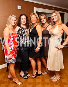 Photo by Tony Powell. Courtney Wilson, Cynthia Goldner, Lynni Megginson, Malena Caruso, Lauri Tamney. Abbey Road on the River/Lynni Megginson Birthday Party. Gaylord Hotel. August 5, 2010