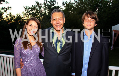 Photo by Tony Powell. Isabella, Felix, and Felipe Sanchez. Adrienne Arsht Salon Dinner for National Hispanic Foundation for the Arts. September 13, 2010