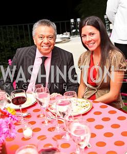 Photo by Tony Powell. Angel Saltos, Windy Lopez. Adrienne Arsht Salon Dinner for National Hispanic Foundation for the Arts. September 13, 2010