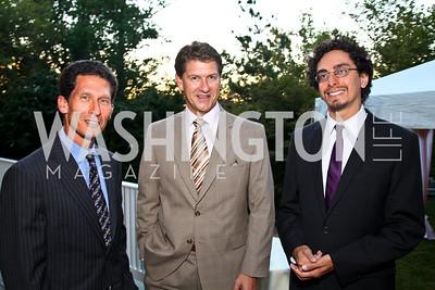Photo by Tony Powell. Bob Okun, Lyndon Boozer, Gabriel Pacheco. Adrienne Arsht Salon Dinner for National Hispanic Foundation for the Arts. September 13, 2010