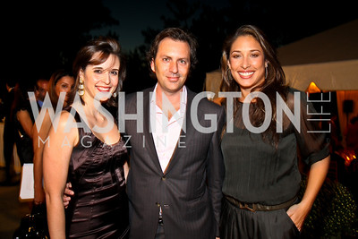 Photo by Tony Powell. Carolina Furukrona, Michael Clements, Giselle Itié. Adrienne Arsht Salon Dinner for National Hispanic Foundation for the Arts. September 13, 2010