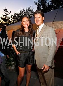 Photo by Tony Powell. Giselle Itié, Lyndon Boozer. Adrienne Arsht Salon Dinner for National Hispanic Foundation for the Arts. September 13, 2010