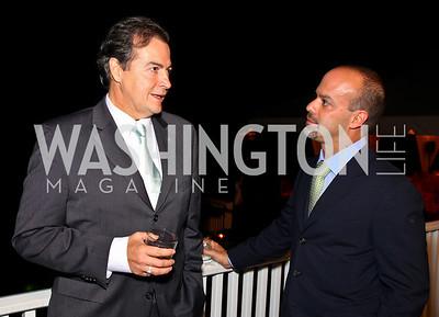 Photo by Tony Powell. Rudy Bessera, Luis Casamayor. Adrienne Arsht Salon Dinner for National Hispanic Foundation for the Arts. September 13, 2010