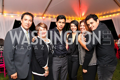 Photo by Tony Powell. Benito Martinez, Lorraine Cortes-Vasquez, Jeremy RayValdez, Aimee Garcia, Raquel Egusquiza, Jesse Garcia. Adrienne Arsht Salon Dinner for National Hispanic Foundation for the Arts. September 13, 2010