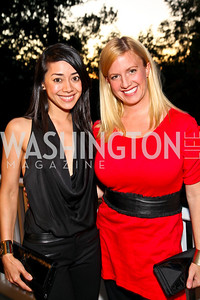 Photo by Tony Powell. Aimee Garcia, Christina Wilkie. Adrienne Arsht Salon Dinner for National Hispanic Foundation for the Arts. September 13, 2010