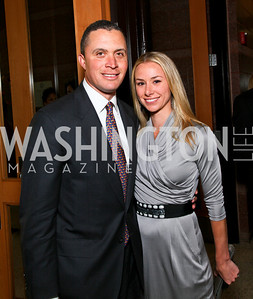 Democratic Leadership Council Chairman Harold Ford Jr. and wife Emily Ford. after dark @ THEARC. April 10, 2010. Photo by Tony Powell