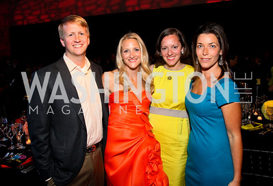 David and Carrie Marriott, Sarah Canova, Sarah Guinan Nixon. after dark @ THEARC. April 10, 2010. Photo by Tony Powell