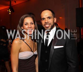 Ellen Chube and David Washington. Alvin Ailey Gala. The Kennedy Center. February 2, 2010. photos by Tony Powell