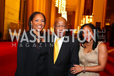 Kim Keenan, Rep. John Lewis, Montina Anderson. Alvin Ailey Gala. The Kennedy Center. February 2, 2010. photos by Tony Powell