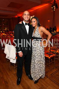 Mayor Adrian and Michelle Fenty. Alvin Ailey Gala. The Kennedy Center. February 2, 2010. photos by Tony Powell