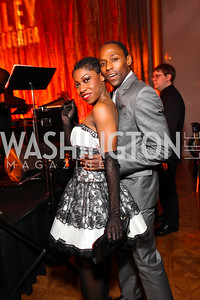 Ailey dancers Khilea Douglass and Samuel Roberts. Alvin Ailey Gala. The Kennedy Center. February 2, 2010. photos by Tony Powell