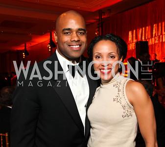 Jamal Simmons and Ayanna Dunn. Alvin Ailey Gala. The Kennedy Center. February 2, 2010. photos by Tony Powell