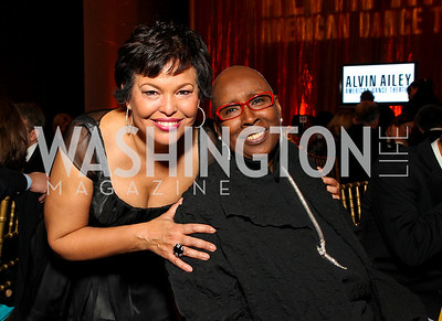 Debra Lee and Judith Jamison. Alvin Ailey Gala. The Kennedy Center. February 2, 2010. photos by Tony Powell