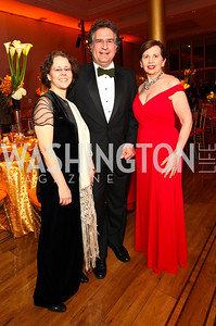 Cecilia Munoz, Joe Garcia, Adrienne Arsht. Alvin Ailey Gala. The Kennedy Center. February 2, 2010. photos by Tony Powell